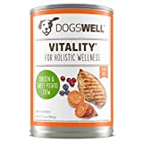 DOGSWELL Vitality Wet Dog Food, Vitamins & Essential Fatty Acids, Chicken Recipe 13 oz, 12 cans