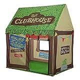Niños Play Tent Niños Playhouse - Tienda al aire libre interior Modelo Clubhouse Verde Portátil