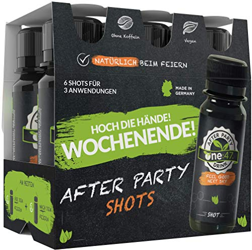 one:47 ® After Party Drink | 36 Shots | Limited Six-Pack Edition mit Preisvorteil | Feel good next day | Natürlich Feiern. Natürlich Fit | Die originale geschützte one 47 Formel
