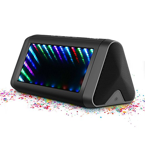 LED Bluetooth Speakers, ELEGIANT 20W Loud Wireless Speakers with 5 Modes LED Lights 3D Dynamic Lighting Enhanced Bass/DSP Stereo Sound Waterproof Speakers Compatible with iOS/Android Smartphone