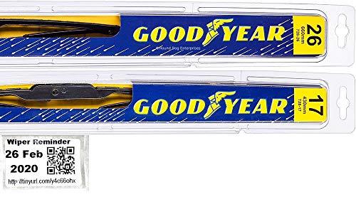 Premium - Windshield Wiper Blade Set/Kit/Bundle for 2002-2006 Nissan Altima - Driver & Passenger Blades & Reminder Sticker