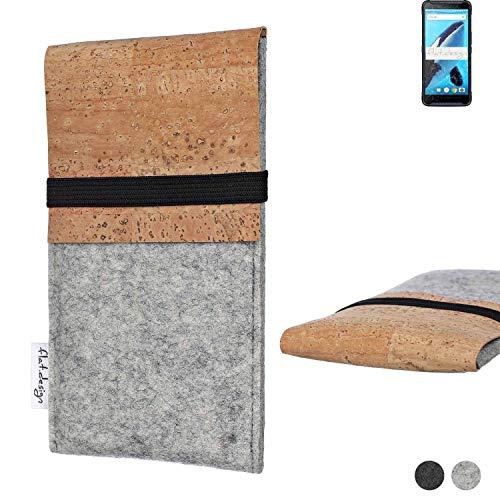 flat.design Handy Hülle SAGRES für Energizer Hardcase H570S handgefertigte Handytasche Filz Tasche Schutz Hülle fair Kork