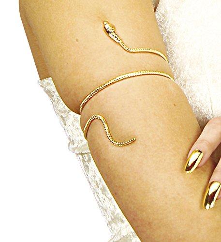 Widmann 1707S - Schlangen-Armband, für Handgelenk oder Oberarm, Cleopatra, Ägypten, Karneval, Accessoire, Zubehör, Modeschmuck, Mottoparty, Kostüm
