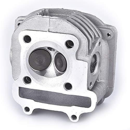 Cabezal de cilindro con válvula de repuesto para GY6 150 cc china Scooter Parts 157QMJ para motor sin AGR