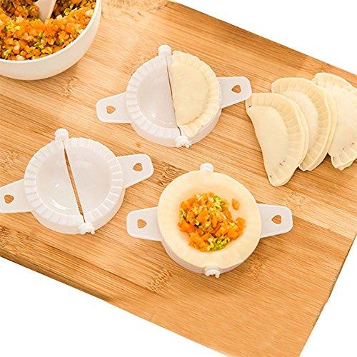 Mini boulette machine Outil de petite maison Plastique Pâte Presse boulette Tarte Moule à ravioli Moule à cuisson Pâtisserie outils