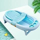 Lontg - Asiento de baño para bebé, cómodo, cojín para bañera de bebé, de malla, antideslizante, hamaca de baño, plegable, alfombrilla de baño ajustable, soporte de baño de seguridad de 0 a 12 meses