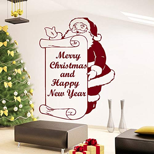 sanzangtang Fototapete frohes und glückliches neues Jahr Alter Mann Applique Vinyl Aufkleber Home Art Schlafzimmer wohnkultur Wohnzimmer 63x84 cm