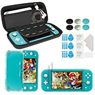 [High Quality Case] This carrying case are made of high quality material. With hard shell and soft inner keep your NS Switch Lite free from scratches, dust, drop etc. Two fixing cords to secure your NS Switch Lite to prevent it from falling off. Feat...