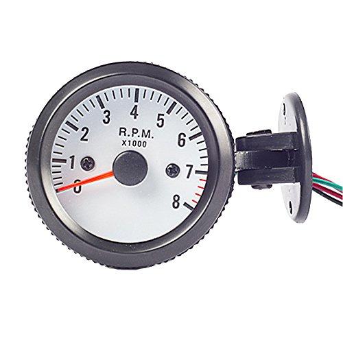 """ESUPPORT Car 2"""" 52mm Tacho Gauge Meter Tachometer RPM Pointer Blue LED Light"""