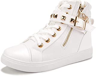 SANOMY Women Fashion Wedge Sneakers Comfortable Zipper High Top Solid Color Canvas Walking Shoes Tennis Sneakers