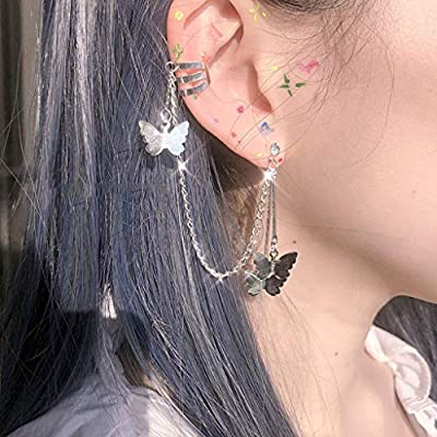 Amazon - Save 80%: 1 Pair Cuff Chain Earrings for Women, Cuffs Tassel Earrings Butterfly, Ear Cu…