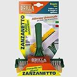 La Briantina ATT02290A Attrezzo Puliscizanzariere con Spugna, Polipropilene, Giallo/Verde, 16x9x27 cm