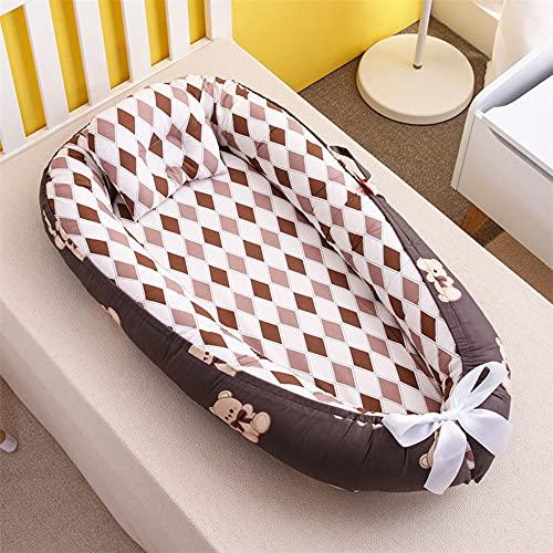 XYYZX Cojín para bebé Cama de bebé Vaina para dormir Vaina para dormir para recién nacidos Nido Bebé Recién 100% Algodón Cunas nido para bebés Reductor de Cuna de dos caras/G