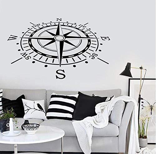 Adesivo Da Parete Adesivi Murali Compasso Decorazioni Nautica Scienza Marina Viaggio Spiaggia Moderna Arredamento Casa Camera Da Letto Ufficio Adesivo Vinile 57X95 Cm