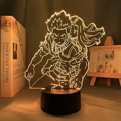 Lámpara de noche 3D, lámpara de noche 3D, anime, My Hero Academia Izuku Midoriya, lámpara decorativa para dormitorio, decoración de cumpleaños, Izuku Midoriya LED, luz nocturna Eri LYTLM