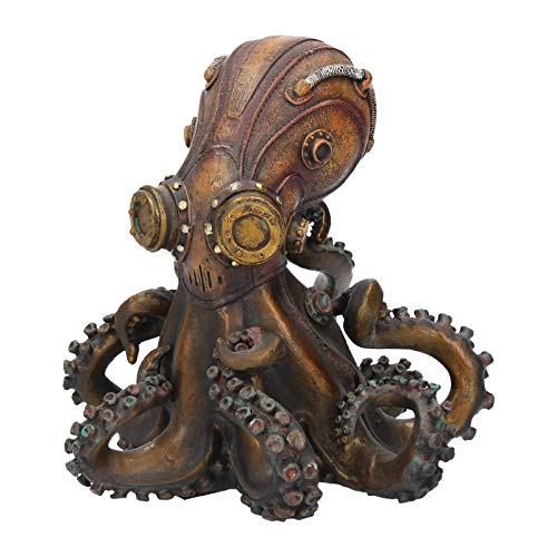 Steampunk Octopus figurine Cast in the finest resin. Painstakingly hand-painted. Size 15cm Weight 0.725kg
