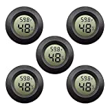Kinyanco 5-Pack Mini Hygrometer Thermometer with Digital LCD Display Indoor Temperature and Humidity Meter for Home Office Humidifiers Humidors Car Greenhouse Babyroom … (5-Pack)