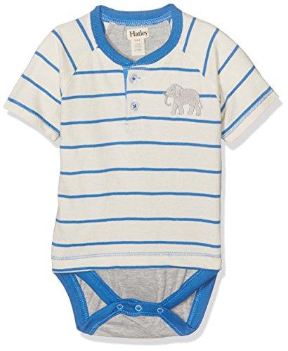 Hatley DRTELPH453 Body, Blanc (Elephant 100), 3-6 Mois Bébé garçon