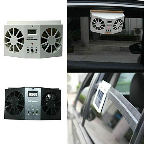 Kühler Ventilator Entlüftung Auspuff Solar & Batteriebetrieben, Solarautokühler Autowindschutzscheiben Lüfter Mini-Klimaanlage Kühler Sommerfahrzeuge Kühlwerkzeuge, schwarz
