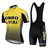 FMHAO Maillot Ciclismo Hombre Verano Ropa Ciclismo Manga Corta Maillot MTB + Pantalones Cortos Equipo Profesional