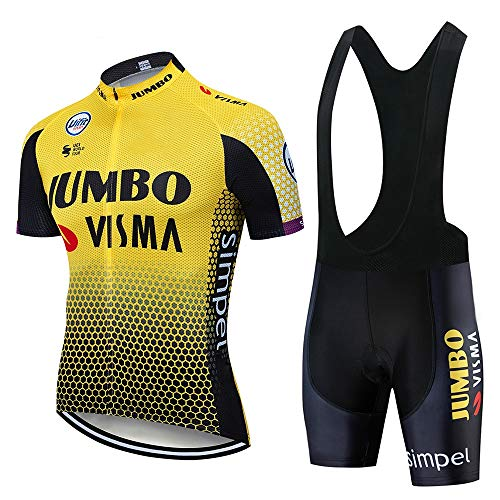 FMHAO Maillot Ciclismo Hombre Verano Ropa Ciclismo Manga Corta Maillot MTB +...