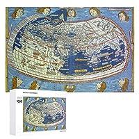 INOV 世界地図 ジグソーパズル 木製パズル 1000ピース インテリア 集中力 75cm*50cm 楽しい ギフト プレゼント
