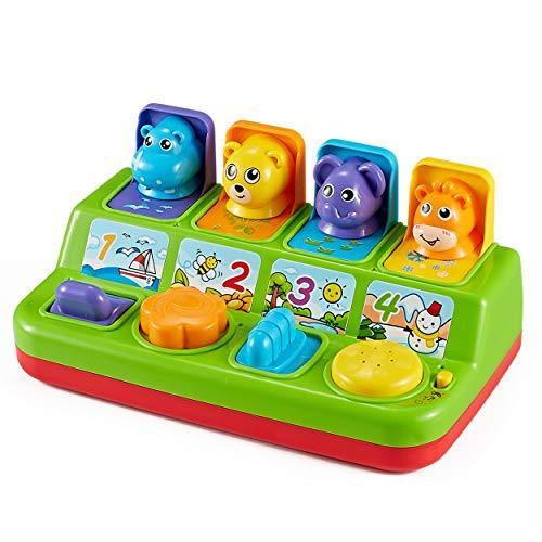 Think Gizmos Aktivitätsspielzeug für Kleinkinder - Interaktives Lernspielzeug für Junge Kinder… (Pop-up-Tiere)