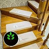 Alfombra de escalera luminosa de 15 piezas, alfombrillas de escalera de alfombra, juego de almohadillas de escalera, almohadillas de escalera de alfombra autoadhesivas, 70 * 22 * 4.5 cm,Beige-M