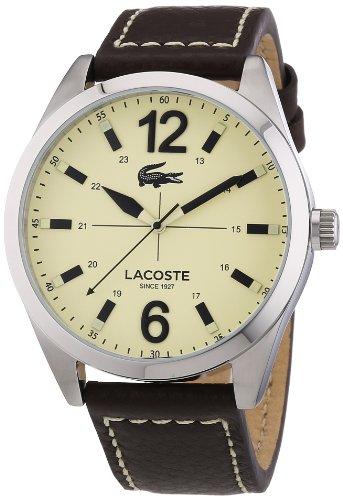 Lacoste Herren-Armbanduhr XL Analog Quarz Leder 2010696