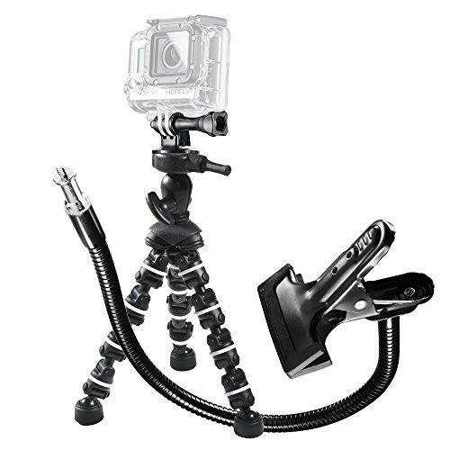Mantona GoPro Set Multiflex 16,5 inkl. Klemme mit Schwanenhals/Multiflex Stativ