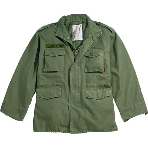 Amazon.com  Olive Drab Military Vintage M-65 Field Jacket 8603 Size Medium  Military  Coats And Jackets  Clothing 3b49f3fd68c