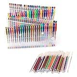 100 Piezas Bolígrafos de Gel Set, Multicolores Glitter Gel Pen Plumas con Recambios de Reemplazo para Niños Colorear Libros de Dibujo Garabatear Artes de Scrapbook