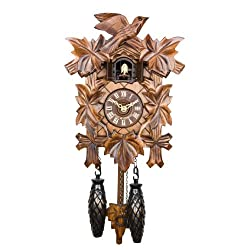 Adolf Herr Quartz Cuckoo Clock - The Traditional Vine Leaves AH 40/1 QM
