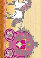 igsticker ポスター ウォールステッカー シール式ステッカー 飾り 1030×1456㎜ B0 写真 フォト 壁 インテリア おしゃれ 剥がせる wall sticker poster 007827 アニマル 馬車 イラスト ピンク ベージュ