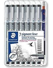 Staedtler 308 02-9 Fineliner Pigment Liner - Zwart (Pack van 10)