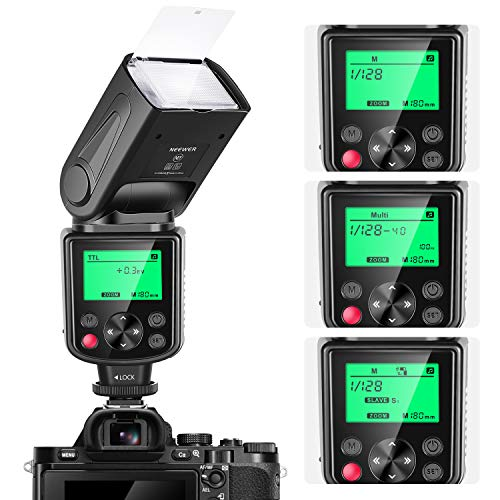 Neewer NW635 TTL GN58 Speedlite Flash with LCD Display Compatible with Sony MI Hot Shoe Mirrorless Cameras A9II A9 A7RIV/III/II A7III/II A7SII A6600 A6500 A6400 A6300 A6000 A99II A77II RX10II/III/IV