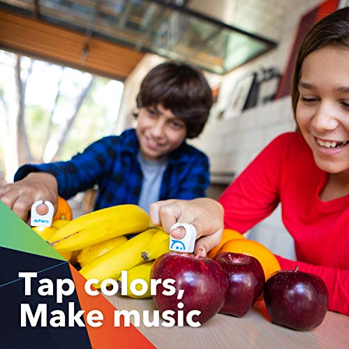 Sphero Specdrums (2 Rings) App-Enabled Musical Rings with Play Pad Included - White (SD01WRW2), Package may vary