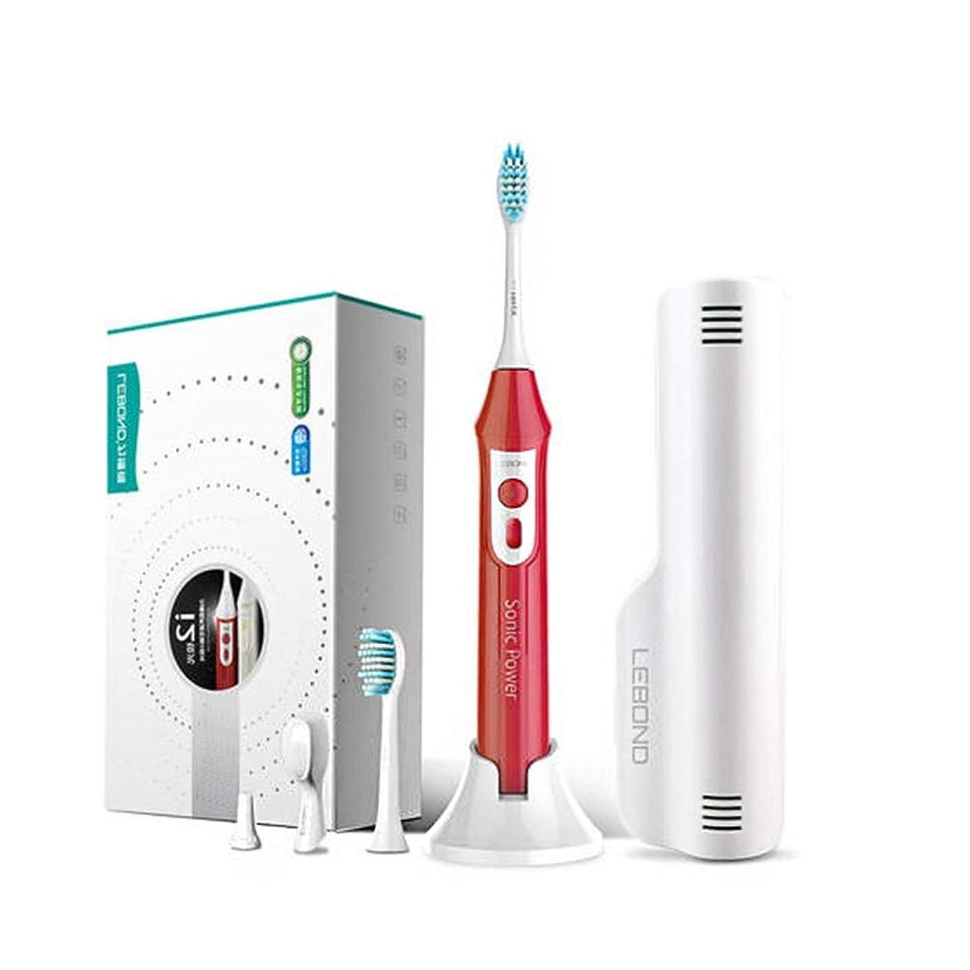 うがい航空会社くしゃみ電動歯ブラシ 大人の家の音波振動の電動歯ブラシの理性的な充満柔らかい毛の自動ブラシの歯のアーティファクト (色 : A)