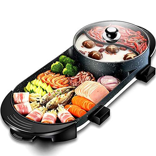 Gmadostoe Hot Pot Multifuncional, Cubierta Teppanyaki Grill, de Gran C