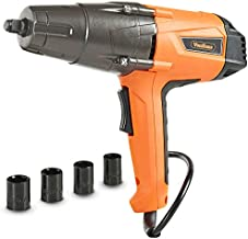 VonHaus Impact Wrench Set, 1/2-inch Drive with Hog Ring Anvil and Carry Case - 290ft-lbs Torque - 8.5 Amp