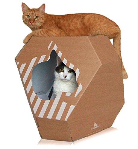 myKotty MIA Double-Sided cat House incl. Kratzmatte