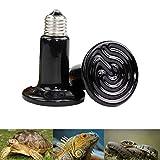 2PCS E27 Reptil Animal Cerámica Lámpara de Calentamiento Infrarrojo Mascota Lámpara, cerámica de Calor del emisor de Infrarrojos del emisor Calentador de Bombillas para Mascotas Reptiles 100 W
