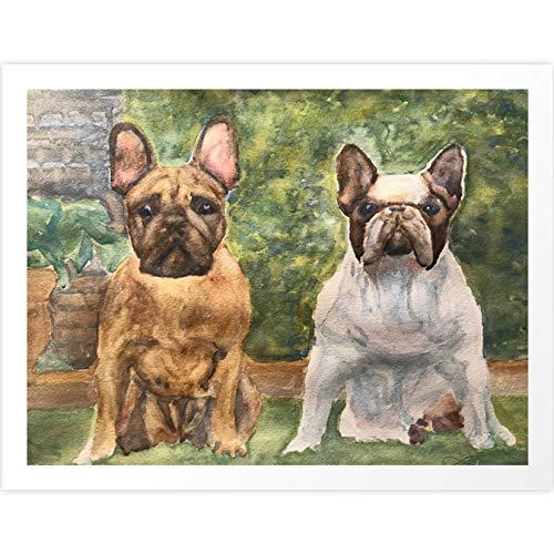 Society6 French Bulldogs at The Ready by Perry Payne Art & Design on Art Print - Large
