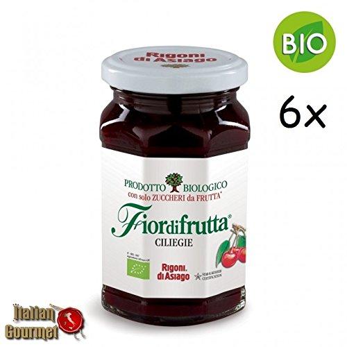 6x Rigoni di Asiago Fiordifrutta BIO Kirsche Fruchtaufstrich Konfitüre 250g