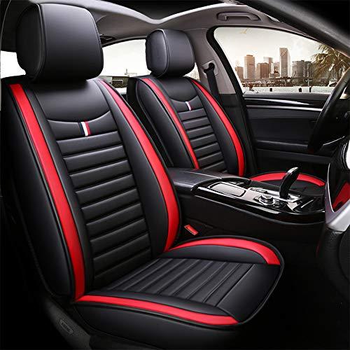 Chemu Fundas de asiento de coche de piel sintética para Audi X6 A3 A4 A5 A6 Q3 Q5 8P 8V 8L 99% tipos de coches de 5 plazas (negro + rojo)