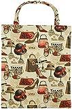 robuste Canvas-Einkaufstaschen Tasche Beutel Bag Jute Stoff Shopper Henkel Trage Einkäufe Stöckelschuhe