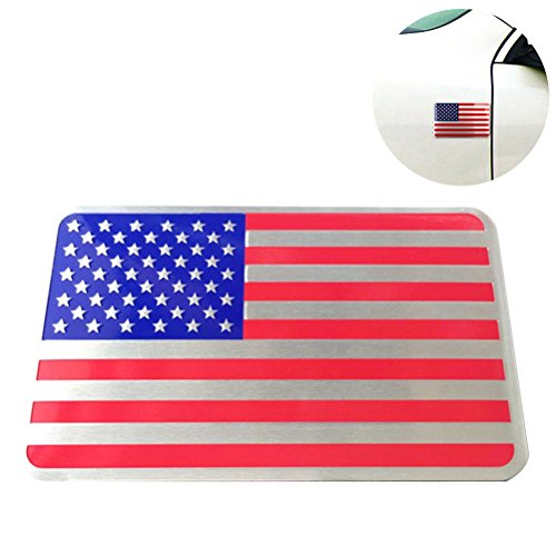 BESTOYARD Metall Amerikanische Flagge Auto Aufkleber Emblem Abzeichen Auto Styling Aufkleber Unabhängigkeitstag Party Favors (Quadratische Form)