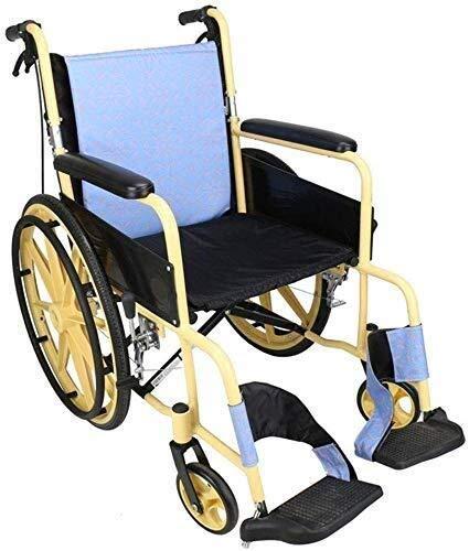 N/Z Living Equipment Wheelchairs Lightweight Folding Wheelchair Driving Medical Aluminum Alloy Large Wheel Folding Back Wheelchair Waterproof Winter Summer Cushion
