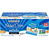Your favorite original pretzel crisps in a fun mini size is perfect for kids or eating a handful at a time Baked with wholesome ingredients, Non-GMO project verified A crunchy fat-free pretzel cracker with only 110 calories per bag Small bags are per...