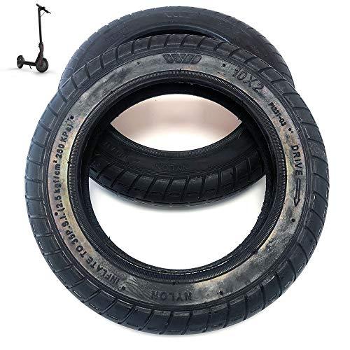 EWheel Lot de 2 pneus Wanda 10 pouces renforcés pour trottinette Xiaomi M365, S1, Essential, Pro et PRO2